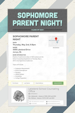 Sophomore Parent Night!
