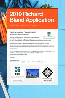 2019 Richard Bland Application