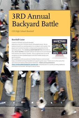 3RD Annual Backyard Battle