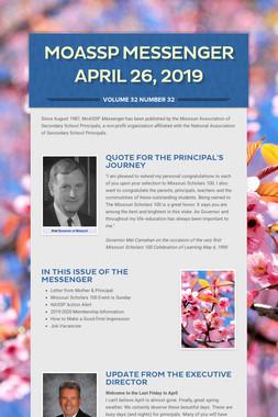 MoASSP Messenger April 26, 2019