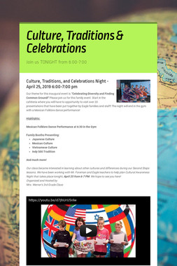 Culture, Traditions & Celebrations