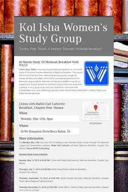 Kol Isha Women's Study Group