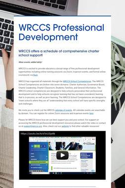 WRCCS Professional Development