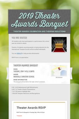 2019 Theater Awards Banquet
