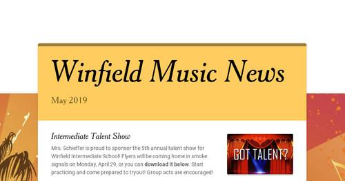 Winfield Music News Smore Newsletters