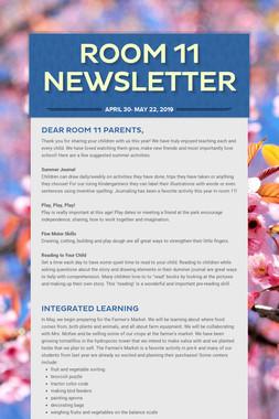 Room 11 Newsletter