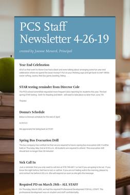 PCS Staff Newsletter 4-26-19