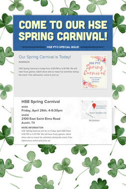 Come to Our HSE Spring Carnival!