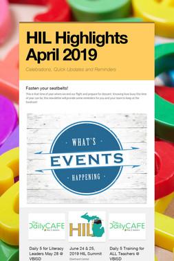 HIL Highlights  April 2019
