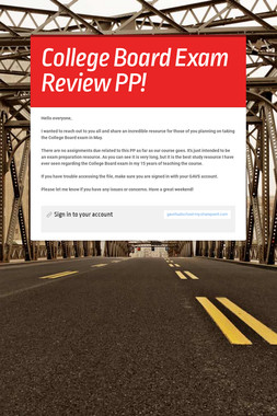 College Board Exam Review PP!