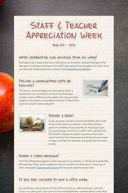 Staff & Teacher Appreciation Week