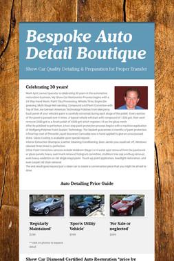 Bespoke Auto Detail Boutique