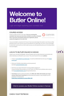 Welcome to Butler Online!