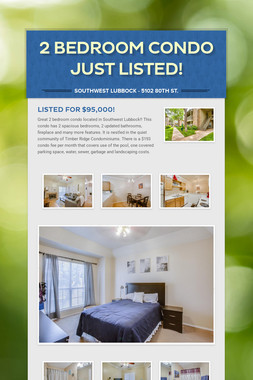 2 Bedroom Condo Just Listed!