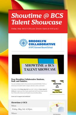 Showtime @ BCS Talent Showcase