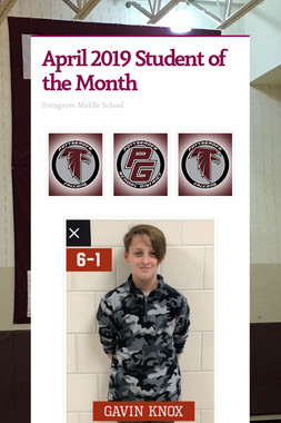 April 2019 Student of the Month