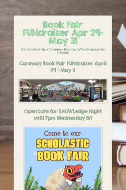 Book Fair FUNdraiser Apr 29-May 3!