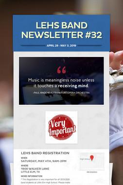LEHS Band Newsletter #32