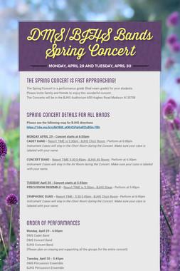 DMS/BJHS Bands Spring Concert