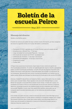 Boletín de la escuela Peirce