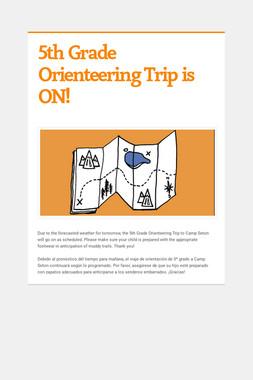 5th Grade Orienteering Trip is ON!