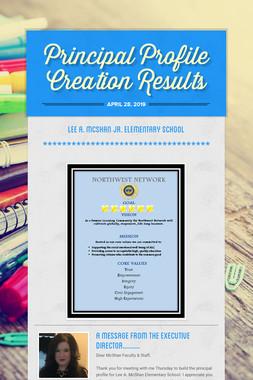 Principal Profile Creation Results