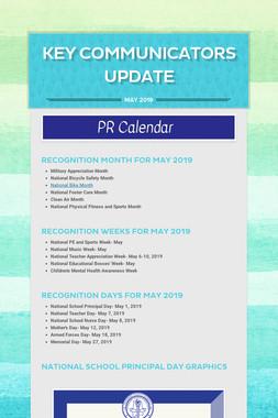 Key Communicators Update