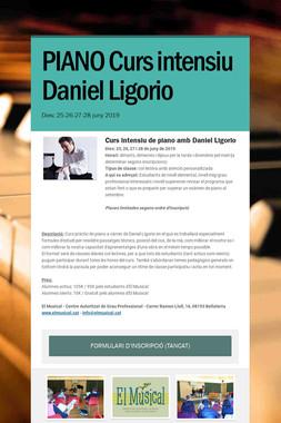 PIANO Curs intensiu Daniel Ligorio