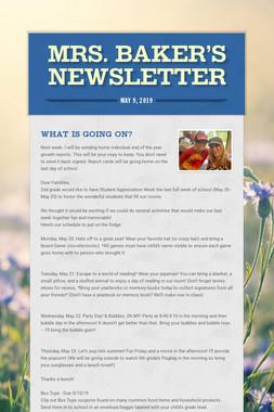 Mrs. Baker's Newsletter