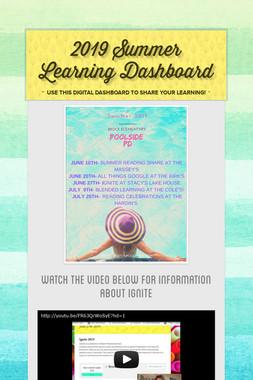 2019 Summer Learning Dashboard
