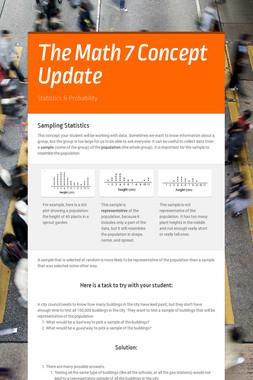 The Math 7 Unit 8 Update