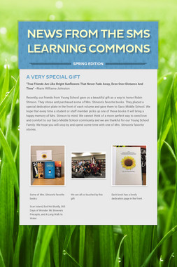 News From the SMS Learning Commons
