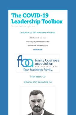 The COVID-19 Leadership Toolbox