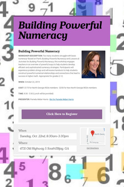 Building Powerful Numeracy