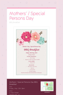 Mothers' / Special Persons Day