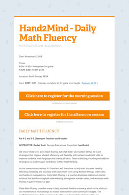 Hand2Mind - Daily Math Fluency