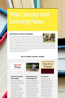 May Literacy and Learning News