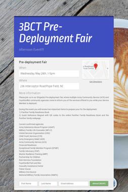 3BCT Pre-Deployment Fair