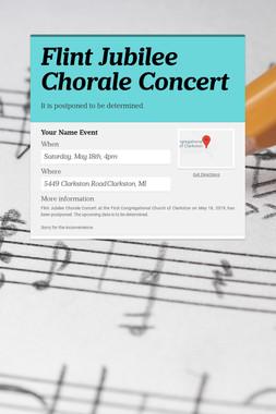 Flint Jubilee Chorale Concert