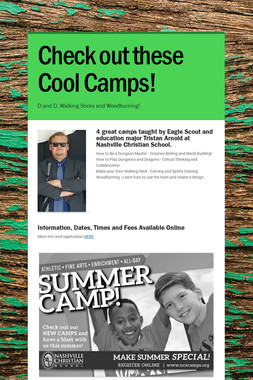 Check out these Cool Camps!