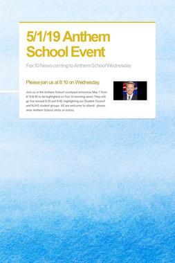 5/1/19 Anthem School Event