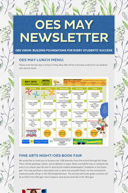 OES May Newsletter