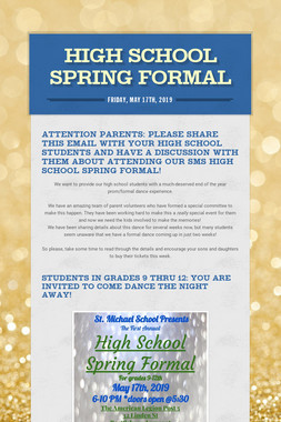High School Spring Formal