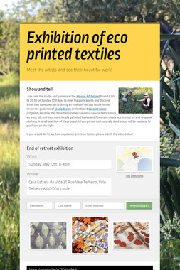 Exhibition of eco printed textiles