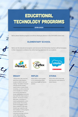Educational Technology Programs