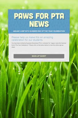 PAWS FOR PTA NEWS