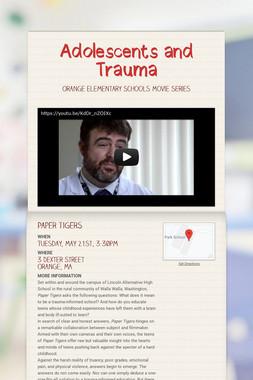 Adolescents and Trauma