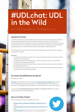 #UDLchat: UDL in the Wild