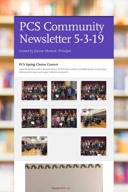 PCS Community Newsletter 5-3-19