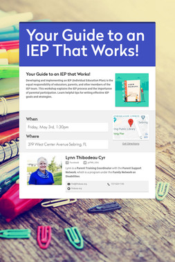 Your Guide to an IEP That Works!
